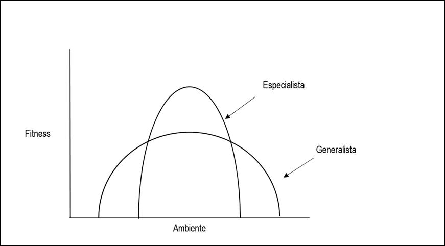 Modelo de explotación del entorno. Organización Especialista vs. Organización Generalista.