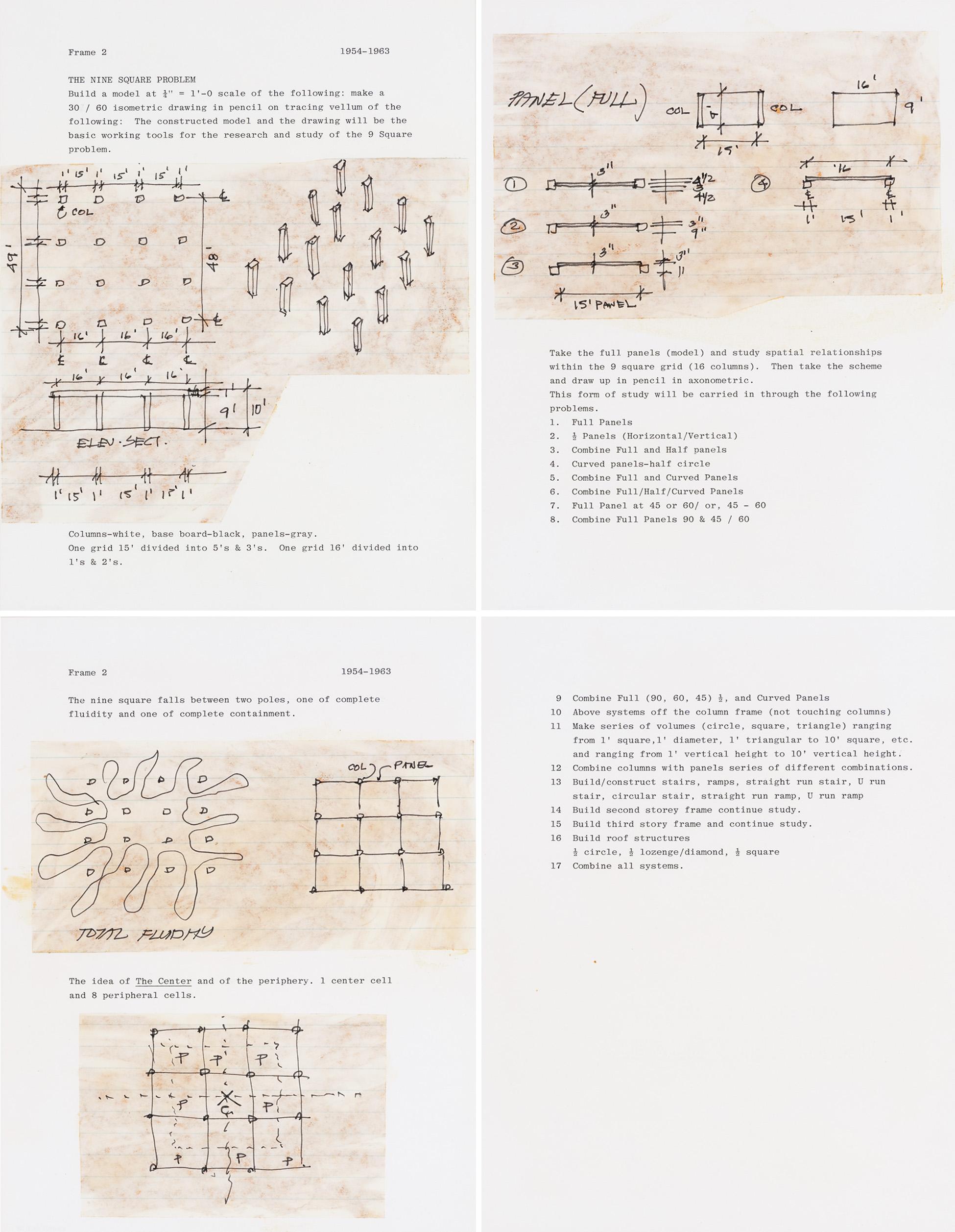 Enunciado del problema de los nueve cuadrados